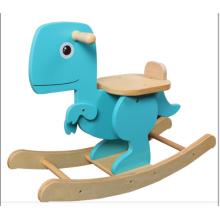 Suministro de fábrica Rocking Horse-Wooden Dinosaur