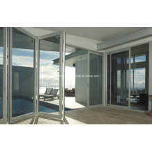 Quick Installed Luxury Class Double Glass Aluminium Folding Doors