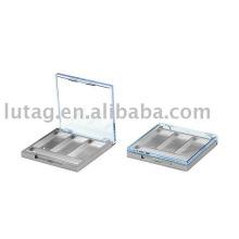 3 Farbe Quadrat Lidschatten Palette Kosmetik Verpackung