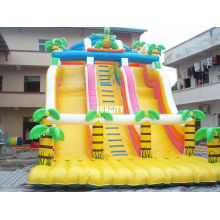 Outdoor Large 0.55mm Pvc Tarpaulin Commercial Inflatable Dry Slide For Party Entertainment