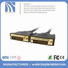Oro plateado dvi 24 + 1 macho a macho 10 pies de plomo para HDTV LCD LED