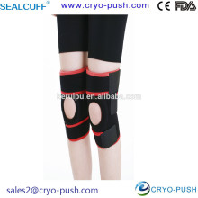 Sealcuff Black and Red Knee Protector for Dancing with Spring