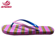 Factory customize fashionable EVA flip flop printed eva slipper for lady