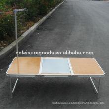 Mesa de barbacoa portátil de aluminio