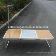 Table de BBQ portable en aluminium