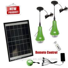solar casa conduzida luz com 9w painel solar para uso doméstico