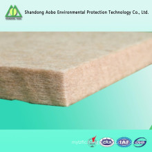 Flame retardant polyester hard felt for building sound insulation