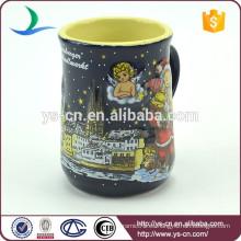 YScc0017-01 Santa Claus y muñeco de nieve decorativos Copa de cerámica para regalo de Navidad