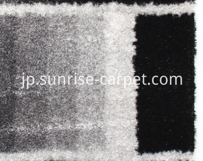 Thin Polyeste Shaggy Rug Shades Design