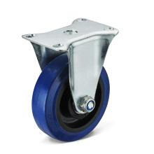 Las ruedas con ruedas fijas de goma elástica
