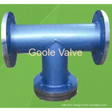 Goole Fabricated Carbon Steel Flanged T Type Strainer
