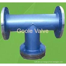 O aço carbono fabricado de Goole flangeou filtro do tipo de T