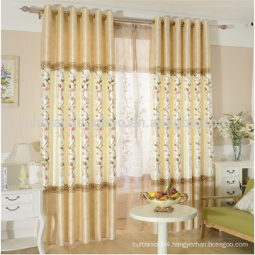 Kids curtains design raw silk fabric window curtains