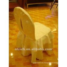 con encanto cubierta 100% del poliester del telar jacquar silla para banquetes, hotel