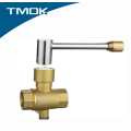 High Quality Female Thread Brass Temperature Measurement Ball Valve with Lock Inside Valvula