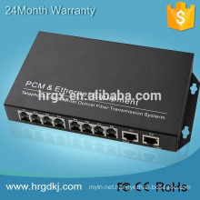 Alibaba trade assurance 20km--120km single fiber single mode 8channel pcm mux