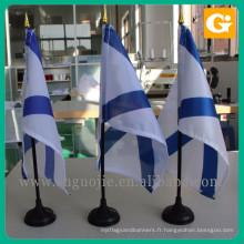 Usine fournisseur polyester bangladesh table drapeau