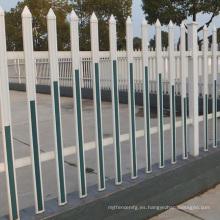 valla de estacas de cerca de aluminio horizontal