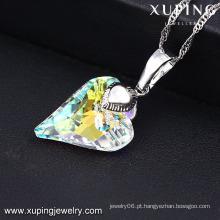 32659-moda mais novo rhdium cz diamante coração jóias colar de pingente para meninas ′ presentes