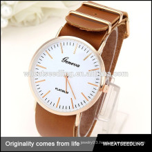 luxury custom wholesale geniune leather men watches