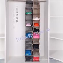 10 Shelf hanging closet organizer Wardrobe Clothes Storage folding fabric wardrobe organizer