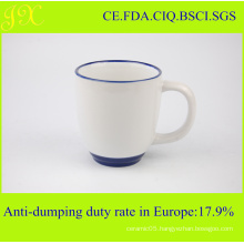 FDA Sublimation Ceramic Mug with Rim and Handle Color for Coffee