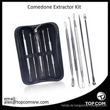 Mitesser Pickel Makel Comedone Akne Extractor Remover-Tool-Set