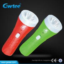 Plástico recargable más potente linterna linterna led