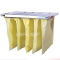 Colector de polvo de filtro de aire de bolsillo de fibra sintética