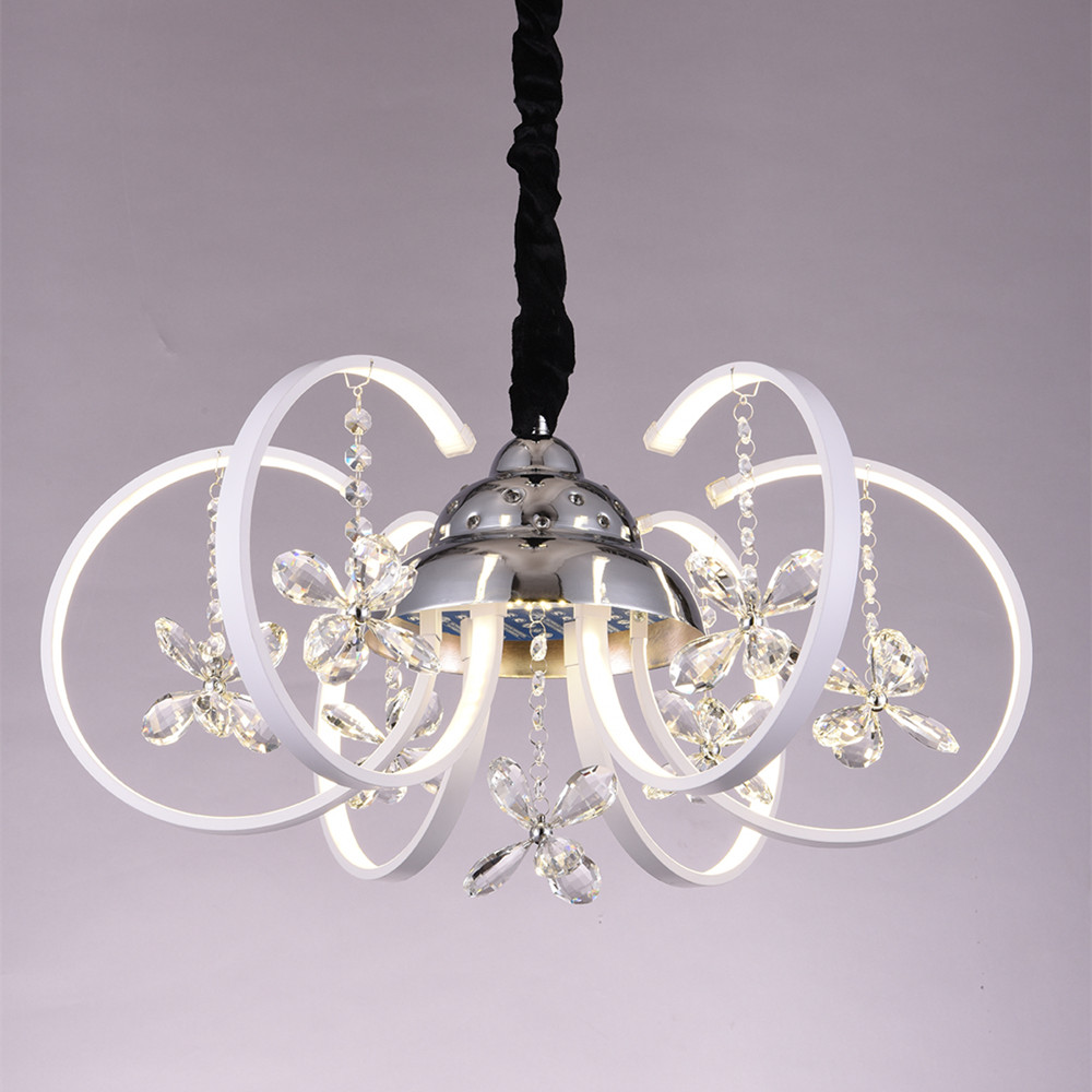 new led modern crystal acrylic chandelier