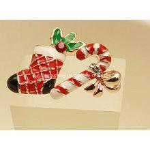Joyería de Navidad / Pendiente de Navidad / Calcetín y Palo de Navidad (XER13352)
