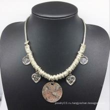 Кольцо сплава деталями капли ожерелье цепь (XJW13790)