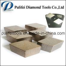 Segment de meulage dur de béton dur de cobalt pour la rénovation de surface de plancher