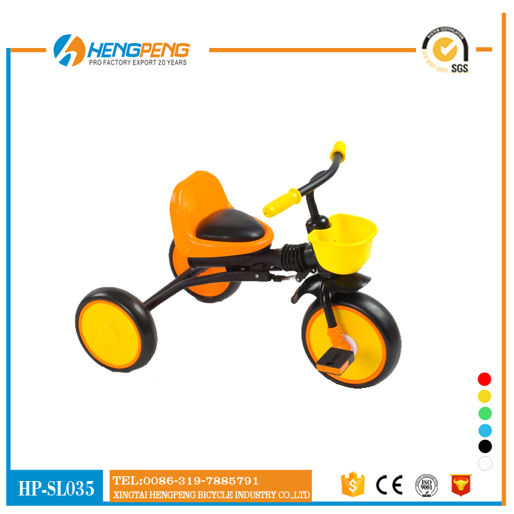 optional Color Small Children Tricycle with Rear Carrier