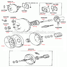 """6 """"Brake Vacuum Booster OEM 5130060C10 para Suzuki Carry 1985-1999"""