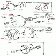 """6 """"o OEM 5130060C10 do impulsionador do vácuo do freio para Suzuki leva 1985-1999"""