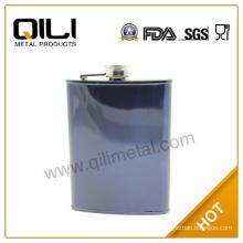9oz pure color promotional metal hip flask