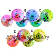 Acrylic Splatter Ball Free Sample Ear Cartilage Piercing Jewelry