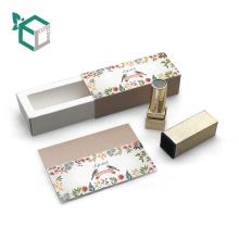 Tube cosmétique écologique de boîte en gros de papier pour le baume de lèvre de rouge à lèvres