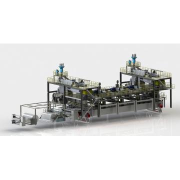 SMMMS Nonwoven Machine(five dies)composite nonwoven fabric