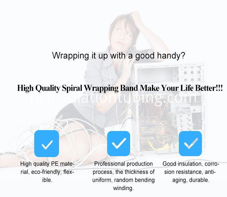 High Quality Electrical Wire Spiral Wrapping Band