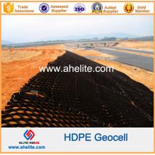 Géocellules HDPE en plastique anti-intempéries pour la protection des pentes et la construction de fondation