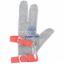 Drei Finger Stahl Mesh Handschuhe