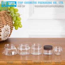 20g 30g 50g 60g and 80g delicate different shape good quality thickening wall small beautiful pet jar packaging