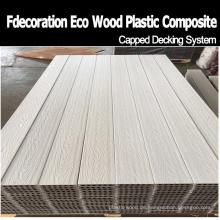 Fabrik-Preis-Weiß mit einer Kappe bedeckter WPC-Bodenbelag WPC-Terrassen-Belag