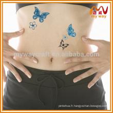 Tatouage temporaire papillon adapté à chaud pour décoration de fête