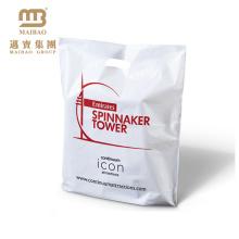 Marque logo imprimé sac de conditionnement en plastique de lait avec poignée perforatrice