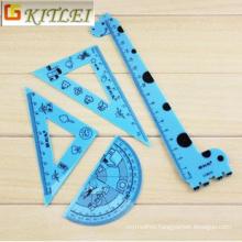 Hot Selling Ruler Student Specialized Scale Ruler Set 30cm Size Plastic Ruler for Promotion