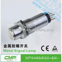 Interruptor pulsador a prueba de explosiones CMP con cierre