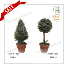 H34cm Plastic Artificial Flower Pot Plant for Garden Decoration